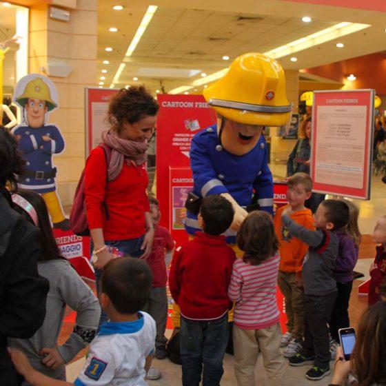 evento-concorso-cartoni-Sam-Pompiere-centro-commerciale-1